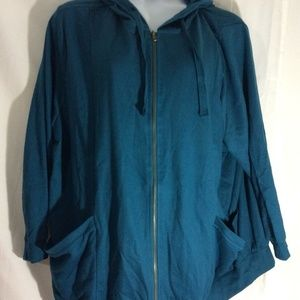 NEW Woman Within Plus Sz 2X 26/28 Teal Blue Jacket